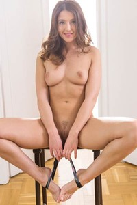 Davina E is hot brunette with nice ass and small but perky tits
