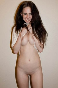 This horny brunette has some nice combination of sweet face and hot body