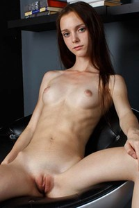 Skinny chick with small but perky tits shows us the beauty of her body