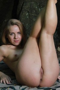Sasha D is in the woods getting ready for some wild and hard sex with you