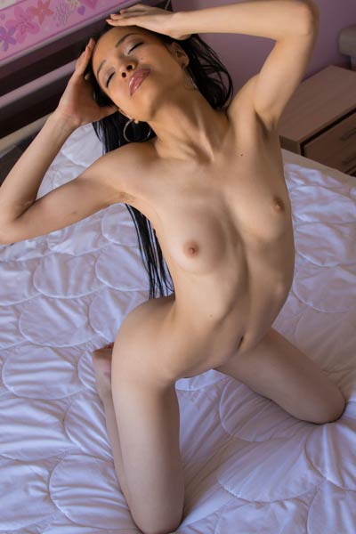 Take a break and get in the bedroom of beautiful doll Violana