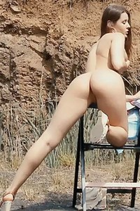 Watching busty Sybil A masturbating will make your manhood grow big in a seconds