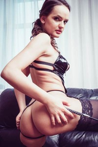 Exotic Maria Z poses in sexy outfit and gets her kink on