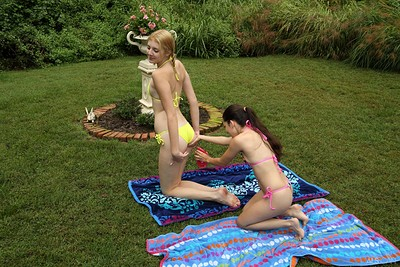 Freya Von Doom and Lena Anderson in Tall and Small from Als Scan