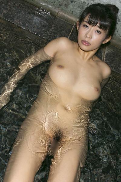 Smoking Babe Sasa Handa sensually poses in Midnight Bath