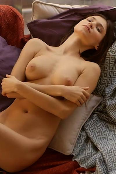Very attractive young chick gets naked and poses for you