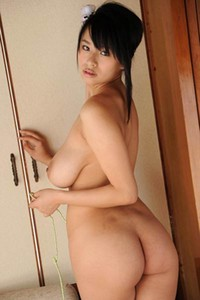 Daring and youthful stunner Hana Haruna gets naked and shows her mind-blowing sex appeal