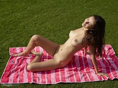 Alisa in Nude Sunbathing from Hegre Art
