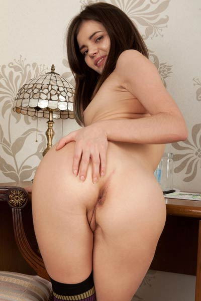 Pola delivers a truly delicious full frontal view of her perfect small breasts and delicate pussy