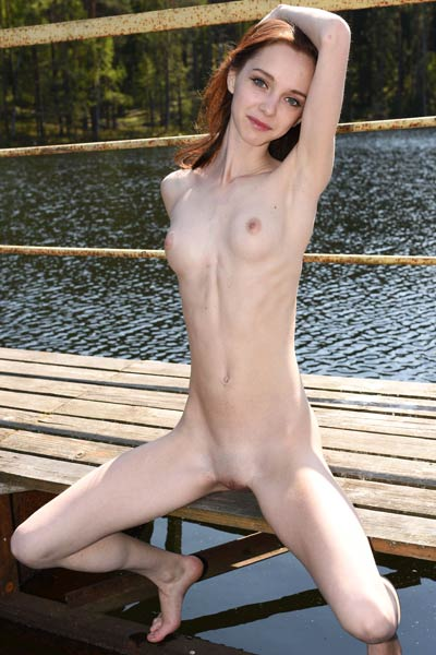 Petite and so sweet Pala presents her sexy slender body