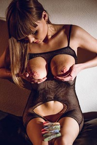 Natalie Russ will make you horny with only seductive undressing