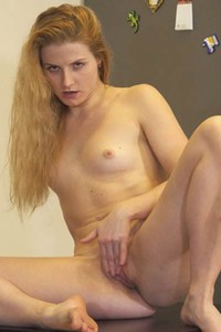 Fantastic angel Fifi sensually poses in Two Fingers