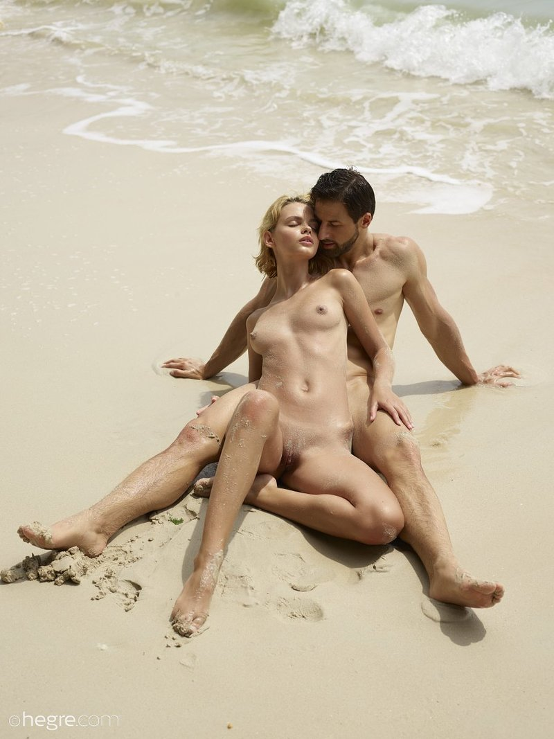 Passionate Couple In Water Love Nude Paint By Number Kit For