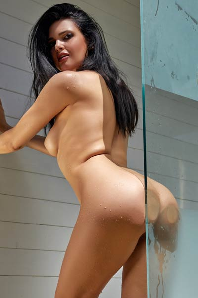 Astonishing doll Clio is under the shower getting wet and hot