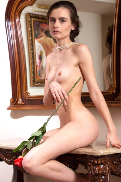 Lonely brunette Fabi is at home feeling hot horny and naughty