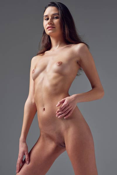 Sweet and sexy newcomer Cristin shows off all she has