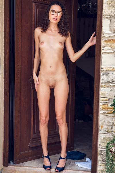 Small titted young lady Cristin has a nice small but perky tits