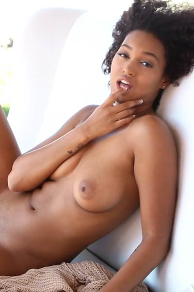 This ebony babe will make your manhood grow big in a few seconds