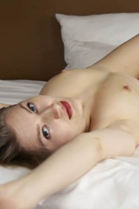 Small but perky tits of young girl Katja Tez looks so nice while she is posing naked on bed