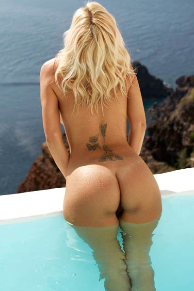 Tanja Brockmann is superb young blonde with finest body and she is showing it with passion