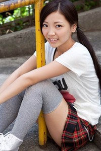 Sexy yet charming damsel Fuuka Nishihama posing in If You Love Me 1