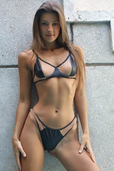 Are you ready for this stunning brunette and her body of goddess