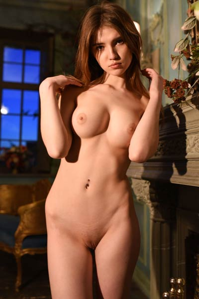 All natural brunette takes off her clothes and shows us perfect boobs for sure