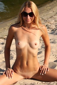 Sexy blonde has a slim fit body and she is not afraid to show it with passion