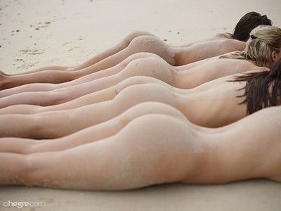 Ariel and Marika in Sexy Sand Sculptures from Hegre Art