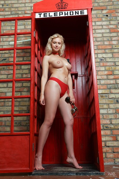 Mandy Tee in Phone Booth from Watch 4 Beauty
