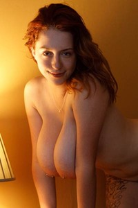 If you love ginger chicks with large natural tits Kelsey Berneray is for you