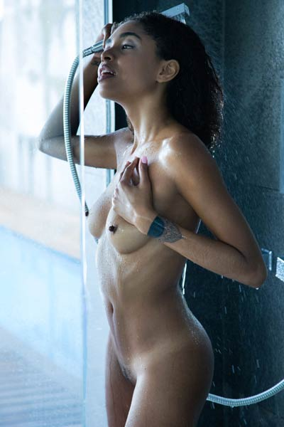 Two magnificent babes enjoy in an amazing interracial erotic action