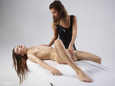Veronika V in G spot massage from Hegre Art