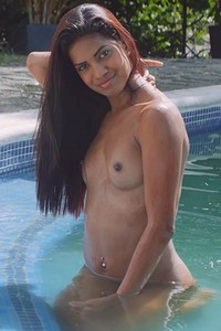 Would you join this super sexy young chick in some nice pool time and something more