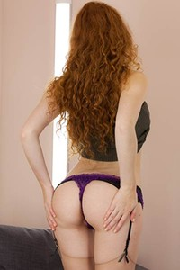 Superb ginger babe takes off her clothes only for you