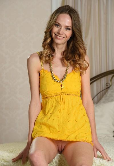 Irene in Yellow Dress from Stunning 18