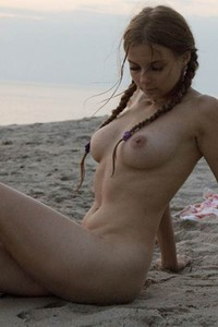 Ulyana Orsk is well curved all natural babe that likes to spend her free time naked on the beach
