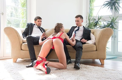 Sarah Kay in Two Gentlemen And A Lady from X Art