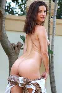 Small titted brunette Jazz looks super sexy while she is taking off her clothes