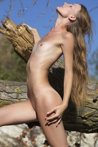 Chova is skinny small titted girl that likes to enjoy nature totally naked