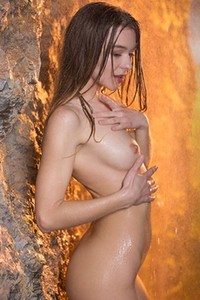 Very attractive Sea Rose shows us her wet body with amazing passion