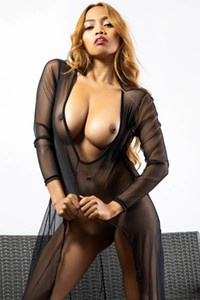 Top class model packed in sexy transparent nighty Cruzlyn exposing her astonishing body