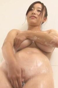 Adorable and playful allgravure model Akari Fujii seductive in Milky Balloon Scene 3
