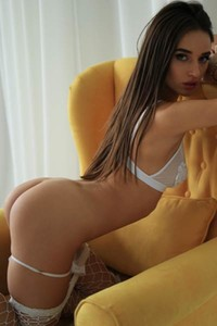 Sexy brunette with perfect body goes wild in getting naked solo action