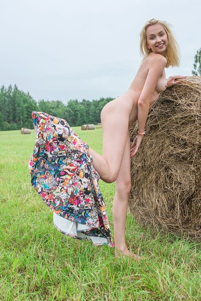 Bernie in Playing In The Hay from Erotic Beauty