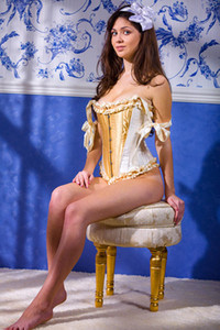 Adorable and playful angel Juliet charming in Undressing Juliet
