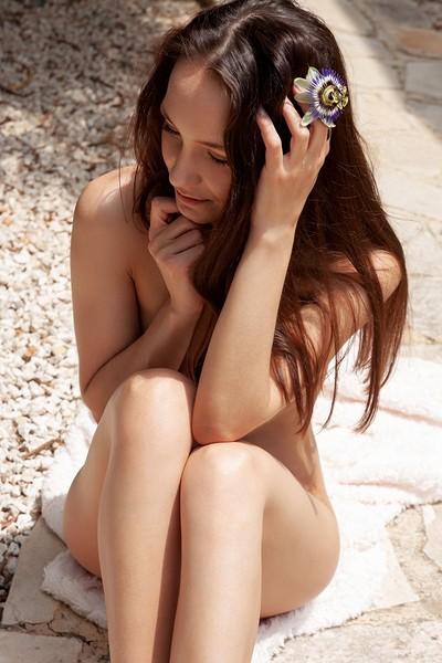 Megan Muse in Floral from Met Art