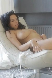 Top class young girl is pleasuring herself in this amazing self teasing performance