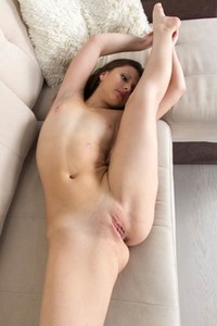 Well curved brunette stripping and teasing in many different flexible poses