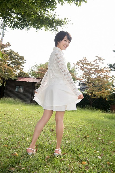 Koharu Nishino in White Peach from All Gravure